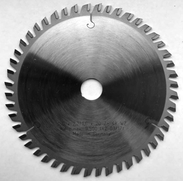 HW Dünnschnittkreissägeblätter WZ für dünnwandige Holzwerkstoffe und Kunststoffe